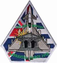 No. 3 (F) Squadron  RAF Exercise Iniochos Greece Eurofighter Typhoon Spearhead Embroidered Patch